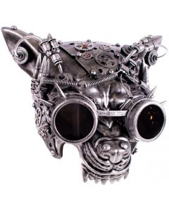 KBW Growling Wolf Mad Dog Steampunk Goggles Face Mask, One-Size