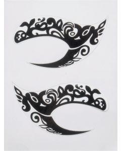 Sexy Fashionable Peacock Design Eyes Costume Temporary Tattoo, Black, 2.75""