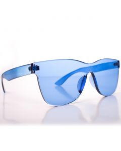 Solid Translucent Frame Wayfare Style Womens Designer Sunglasses, Blue, One-Size
