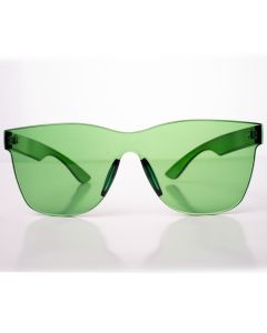 Solid Translucent Frame Wayfare Style Womens Designer Sunglasses, Green, O-S