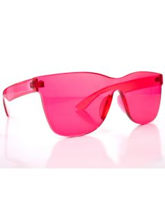 Solid Translucent Frame Wayfare Style Womens Designer Sunglasses, Pink, One-Size