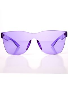 Solid Translucent Frame Wayfare Style Womens Designer Sunglasses, Purple, O-S