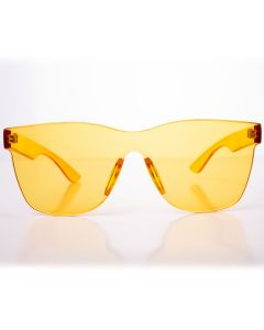 Solid Translucent Frame Wayfare Style Womens Designer Sunglasses, Yellow, O-S