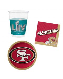 San Francisco 49ers Plates Napkins & Cups 8 Guest Party Tableware Set