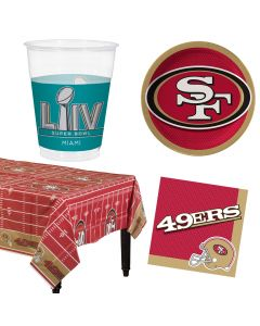 San Francisco 49ers Plates Napkins Cups Table Cover 8 Guest Party Tableware Set
