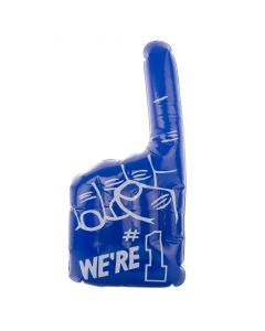 "We're #1 Vinyl Hand Football Cheer-On 18"" Inflatable Toy, Blue White"