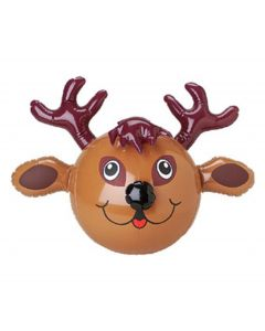 "Holiday Christmas Stuffer Reindeer 15"" Inflatable Toy, Brown Black"