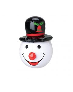 "Holiday Christmas Stuffer Snowman 15"" Inflatable Toy, White Red Black"