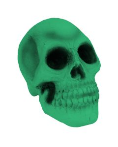 "Veil Entertainment Rubber Skull Halloween 7.5"" Table Decoration, Green"