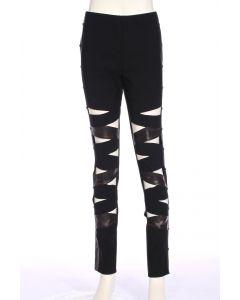 Cosplay Steampunk Fancy Pantaloon Costume Pants, Black Brown, Medium
