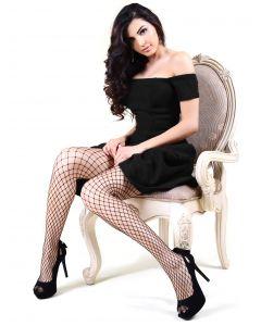 "Killer Legs Women's Sexy Medium Gauge Fishnet Tights, Black, One-Size 5'-5'10"""