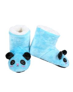 Mouse Animal Holiday Child Super Soft Indoor Slippers, Blue, Small 8-10
