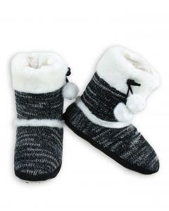 Yelete Stylish Faux Fur Holiday Boot Knit Women Multi Color Indoor Slippers