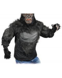 Zagone Gorilla Ape Shirt, Black Grey, One Size