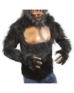 Zagone Chimp Ape Gorilla Shirt, Black Beige, One Size