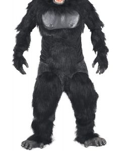 Zagone Gorrila Legs Costume Legs, Black Grey, One Size