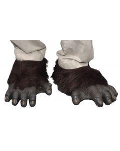 Zagone Gorrila Feet Costume Feet, Black Grey, One Size