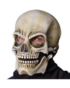Zagone Classic Sock Skull Full Head Mask, Off-White Black, One Size