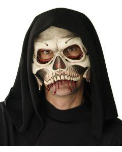 Zagone Cranium Full Head Mask, Black White Red, One Size