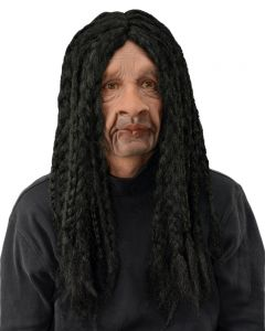 Zagone Long Dreads Rasta Ska-Beat Supersoft Full Head Mask, Black, One Size