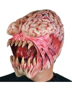 Zagone Brain Eater Latex Halloween Full Head Mask, Beige, One Size