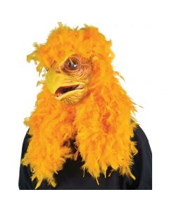 Zagone Moving Mouth Super Chicken Full Head Mask, Yellow, One Size